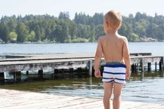 Inspired by the European look, a fun twist on swim suits that will allow kids to run and play without their baggy trunks getting in the way! Fit true to size Si
