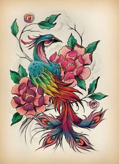 Ideas For Phoenix Bird Drawing Peacock Feathers 1 Tattoo, Body Art Tattoos, Sleeve Tattoos, Crow Tattoos, Ear Tattoos, Yakuza Tattoo, Samoan Tattoo, Polynesian Tattoos, Flor Oriental Tattoo