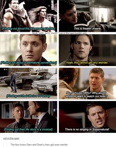 10x05 Fan Fiction (4x18, 5x09, 6x15) [gifset] - The four times Sam and Dean's lives got even weirder - Supernatural