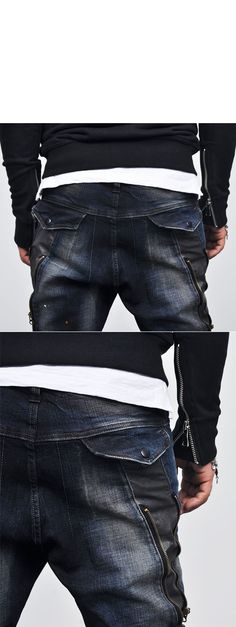 Bottoms :: Jeans :: Edge Zippered Cargo Baggy Skinny-Jeans 93 - Mens Fashion Clothing For An Attractive Guy Look Apocalypse Fashion, Men's Fashion, Fashion Outfits, Attractive Guys, Kinds Of Clothes, Mens Clothing Styles, My Boys, Men's Style, Indigo