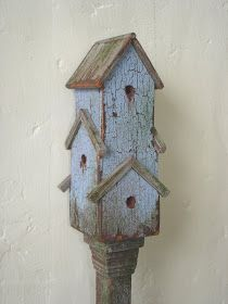 One of the things I have had on my wishlist for the cottage is some little birdhouses. I want to cover the whole of the side wall with them...