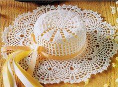Faça e venda - Chapéu rendado para praia - Elegante e de bom gosto - COM GRÁFICO (9614)