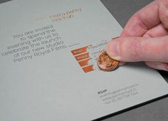 Print with scratch off copper foil detail designed by Alphabetical for Penny Royal Films
