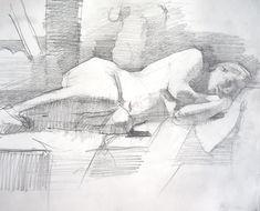 The Art of Chelsea Bentley James: April 2008 Degas Drawings, Figure Drawings, Chelsea James, Art Beat, Drawing Studies, Black White Art, The Design Files, Adam And Eve, Art Series