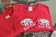 Appliqued Elephant  Alabama Roll Tide Tshirt by Henliez on Etsy