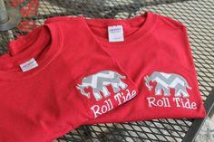 Appliqued Elephant Alabama Roll Tide Tshirt by Henliez on Etsy