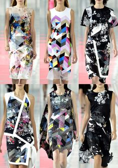 How much do I love these bright geometrics/florals? Loads!! London Fashion Week. Spring/Summer 2014
