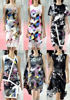 London Fashion Week Preen By Thornton Bregazzi   Spring/Summer 2014   Print Highlights   Part 2 catwalks