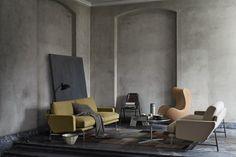 Fritz Hansen living room design featuring the lissoni 2 seater sofa and egg easy chair Fritz Hansen, Sofa Design, Furniture Design, Nordic Interior Design, Interior Ideas, Elegant Sofa, Contemporary Sofa, 2 Seater Sofa, Minimalist Decor