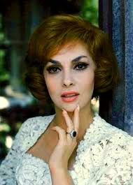 Gina Lollobrigida in her backyard.