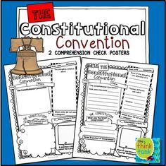 These posters are an engaging way for students to show what they know about the Constitutional Convention. Two versions of the poster are included! #thethinktank #teacherspayteachers #constitutionalconvention