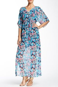 Romeo & Juliet Couture Floral Printed Maxi Dress