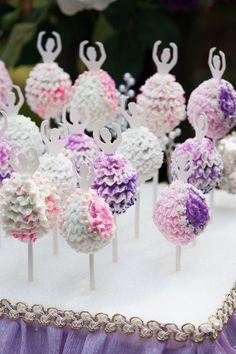 Most gorgeous Ballerina Cake Pops - ruffles made of homemade buttercream using a small rose tip!
