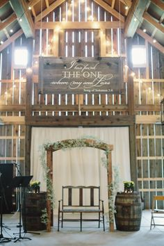 A custom hand lettered sign makes for a stunning decoration for your wedding ceremony.