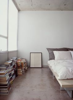 Books on the floor just like our bedroom, kinda love it now.