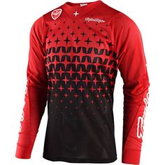 Troy Lee Designs SE Air Megaburst Men's Off-Road Motorcycle Jersey - Red/Black / Small Troy Lee, Cycling Wear, Black M, Men Sweater, Mtb, Sweaters, Mens Tops, How To Wear, Basketball