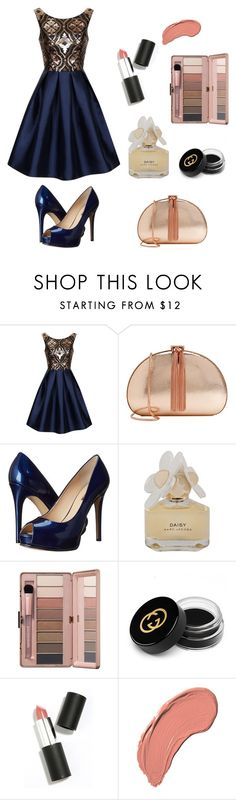 """""""Untitled #11"""" by omastova-k ❤ liked on Polyvore featuring Chi Chi, Ted Baker, GUESS, Marc by Marc Jacobs, Gucci, Sigma Beauty, NYX, women's clothing, women's fashion and women"""
