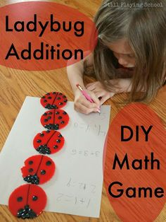 Ladybug Doubles Addition: DIY Math Game from Still Playing School