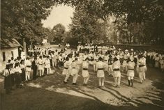 Hora dance in Dragus and Rusu-Bargaului, Kurt Hielscher, 1933 Romania People, 1. Mai, Folk Fashion, Modern Fashion, Buddhist Temple, Agriculture, Dolores Park, Around The Worlds, Traditional