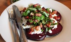 Honey Roasted Beetroot with Goat's Cheese Salad