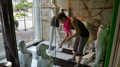 Blog post: Go Behind the Scenes of the Final Halls Plaza Windows with Taylor Gozia   Halls