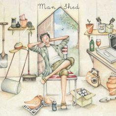 Cards » Man Shed » Man Shed - Berni Parker Designs