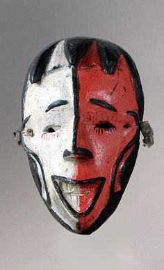 Izi mask from Nigeria, Africa, African masks.  This mask is really nice as it is Qatar colours.