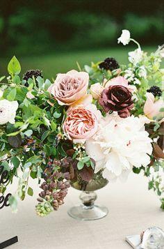 romantic floral arrangement