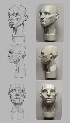 How to Art — Asaro Head Studies by ExoMemory Kunst lernen – Asaro Head Studies von ExoMemory Human Anatomy Drawing, Face Anatomy, Anatomy Art, Drawing Skills, Drawing Techniques, Life Drawing, Figure Drawing Reference, Anatomy Reference, Drawing Heads