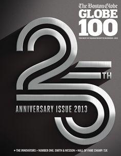 Boston Globe - Globe 100 by Jordan Metcalf - type
