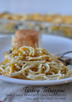 The perfect Thanksgiving leftover recipe- Turkey Tetrazzini. This is a family favorite that I've been making for years. www.thirtyhandmaded...