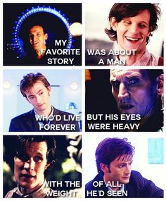 the raggedy man and the oncoming storm, but always the Doctor <<< whoever said that, you are so deep I can't even see you.
