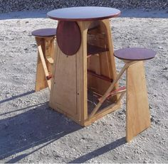 Table with folding out chairs! Where was this when I had my studio apartment??