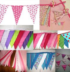 Cositas Mías: Banderines en tela Baby Shawer, Paper Banners, Ideas Para Fiestas, Baby Decor, Coloring Books, Baby Gifts, Garland, Birthday Cards, Sewing Projects
