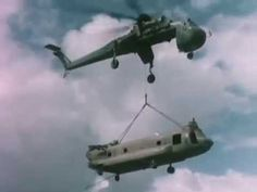 Vietnam War Salvage of CH-47 by Another Chinook & CH-54 Tarhe Flying Crane 1966: http://youtu.be/GYqc01tDB3M #Vietnam #Skycrane #helicopter