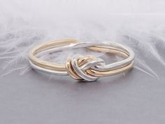 Love knot ring gold and silver ring promise ring by TDNCreations...pinned by ♥ wootandhammy.com, thoughtful jewelry.