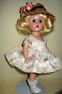 VOGUE VINTAGE GINNY ORIGINAL -SLW Doll w/ HTF Outfit-DRESS,BLOOMERS,HAT