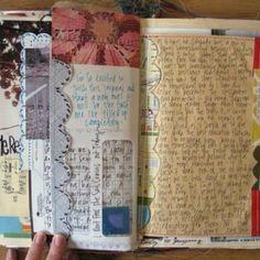 Very cool art journaling idea