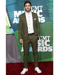 Thomas Rhett Photos - Singer Thomas Rhett attends the 2015 CMT Music awards at the Bridgestone Arena on June 2015 in Nashville, Tennessee.