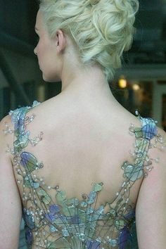 sea glass--not a functional corset but pretty