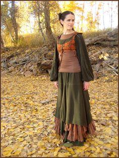 I like the skirt best.  I might try it sometime. Orange Bodice Front by aelthwyn.deviantart.com on @deviantART