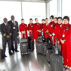 Kenya Airlines chinese cabin crew