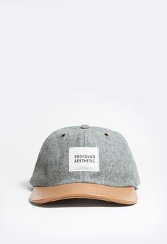 Profound Aesthetic Wool Flannel Gray Baseball Hat http://profoundco.com/collections/new-releases/products/wool-flannel-gray-baseball-hat