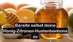 Bereite selbst deine Honig-Zitronen-Hustenbonbons zu