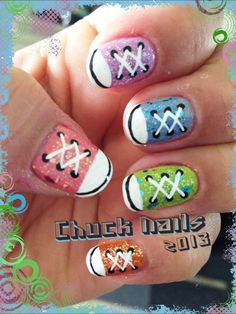 Chuck nails 2013 so creative, adorable and funky