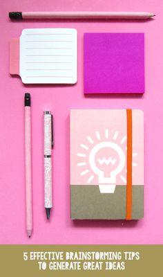 5 Effective Brainstorming Tips To Generate Great Ideas-La Lilú #brainstorming #tips #work #creativity #creative