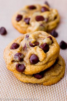 Soft-Baked Chocolate Chip Cookies by sallysbakingaddiction.com