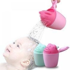 ideacherry Baby Cartoon Bear Bathing Cup Newborn Kid Shower Shampoo Cup  Bailer Baby Shower Water Spoon Bath Wash Cup for 4 Color(China) 30de916ebf96