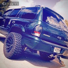 48 4 2002 durango dodge suspension lift 35 xd hiest machined accents super aggressive 3 5