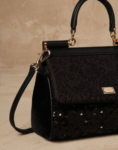 7cbe0f9a0377 Dolce and Gabbana Brocade Sicily Bag Domenico Dolce